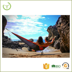With carry bag easy folding durable and portable parachute qucik drying nylon fabric lightweight hammock