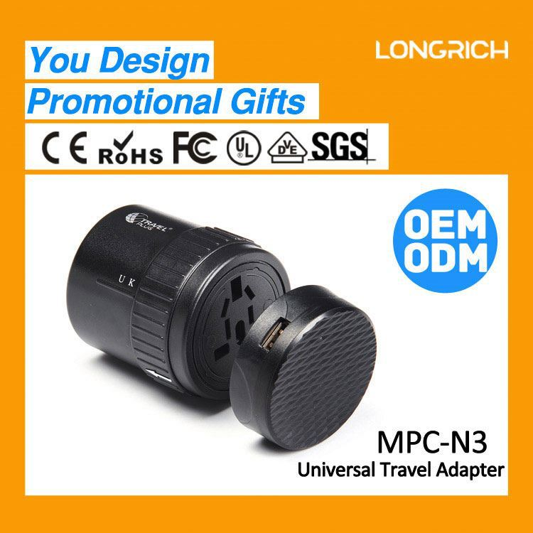 LongRich seasons plug adapters special design usb promotional clothing items