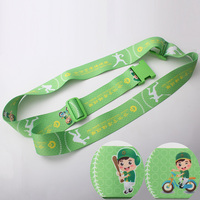 Personalized Green baggage Belt Luggage suitcase Secure Belt Strap