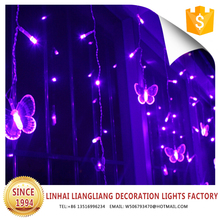 outdoor festival decoration led christmas outdoor lighting butterfly curtain