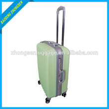 Customized logo Candy color diplomat luggage aluminum trolley beauty case with wheels hot sale