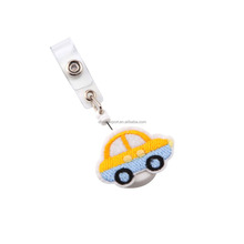 Decorative cute car shape animal shape retractable badge reels