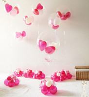 Holiday birthday Party Heart Shaped flower Grid Decoration for Balloon