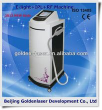 www.golden-laser.org/2013 New style E-light+IPL+RF machine nono cosmeict case