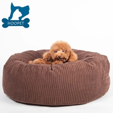 Fancy design Water-resistant washable round dog bed orthopedic