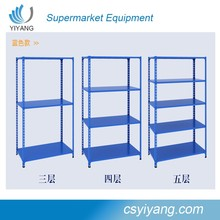 portable usage of shop/supermarket light duty steel rack/angel stainess steel display shelf for sale