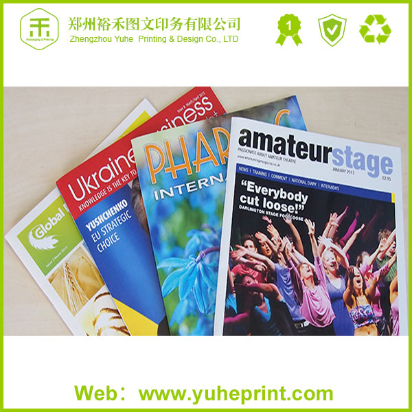 Large quantity direct factory printing service fashion full color a3 C1S paper furniture design magazine