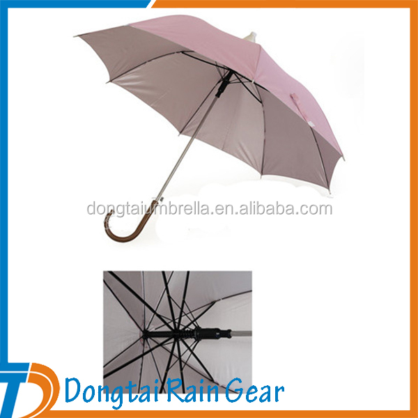 Waterproof Promotional Automatic Straight Umbrella With Plastic Cover