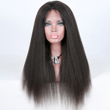 wholesale cheap human hair kinky straight full lace wig
