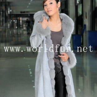 BY90071 Hot Sell Sheepskin With Fox Fur Jacket For Women,Fur Jacket,Fur Coat