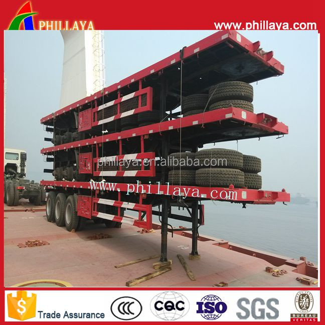 Flat Deck Container Loading Widely Used Truck Trailer for Sale