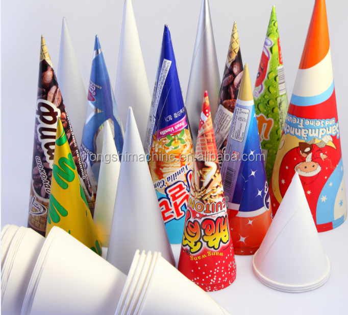New hot sale Automatic cone shaped paper cups machine