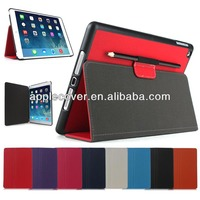 standing leather for iPad air pen holder case