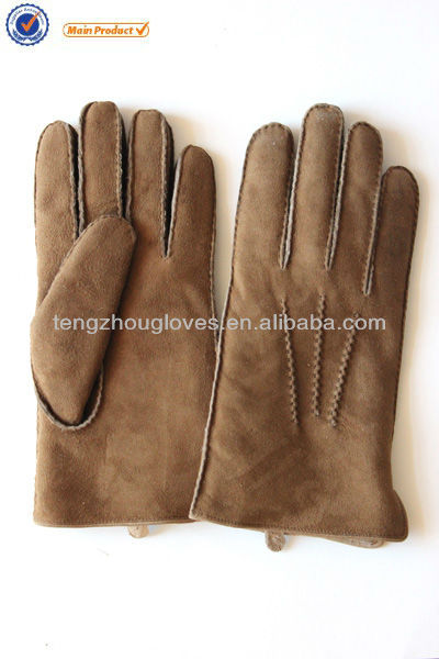 2014 new collection double face lamb fur sheep shearing sheep fur gloves for men ladies and men style