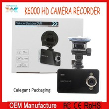 OEM logo Car DVR Full HD 1080P auto dash cam reviews black box k6000