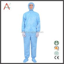 Anti-static polyester cleanroom coverall workwear/work suit/ Safety coveralls