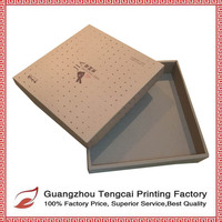 Kraft cardboard square gift box with lids custom printing