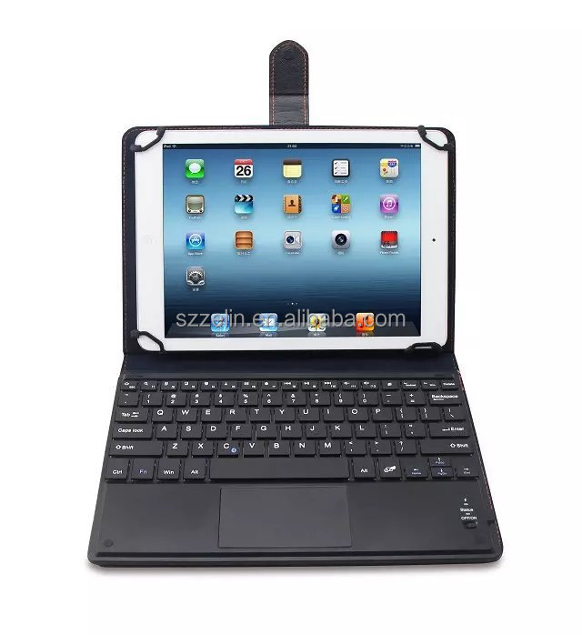 Universal Wireless Bluetooth 3.0 Touchpad Keyboard with Foldable Case Stand Cover for 9inch to 10.5inch Tablets