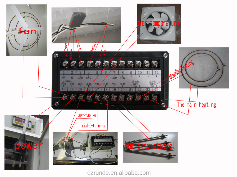 Incubator Spare Parts Digital Automatic Temperature And Humidity Controller For Incubator