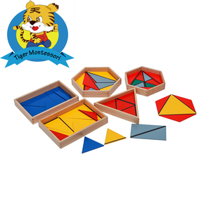 Educational toys montessori material sensorial Constructive Triangles With 5 Boxes toys for kids