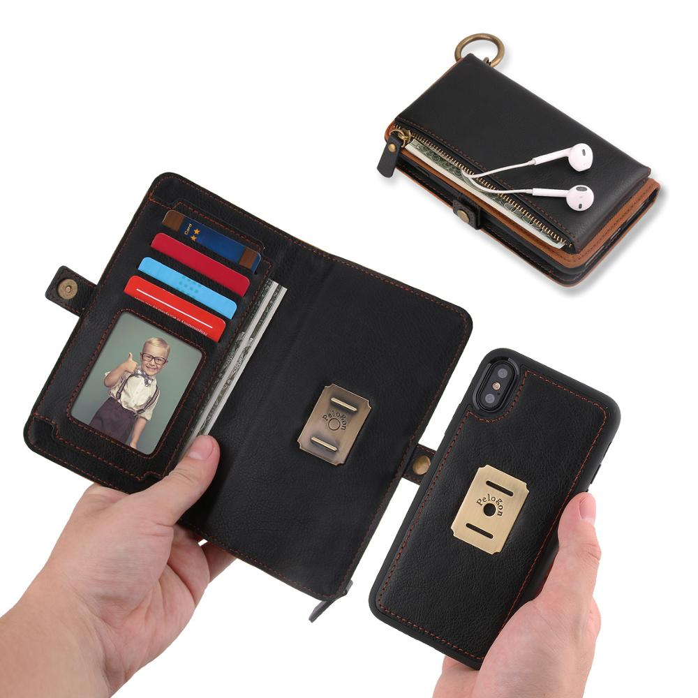 Business high-end for Flip phone case iPhone x 8plus 8 7 7plus 6 6s 6splus Card wallet cover Smart leather case