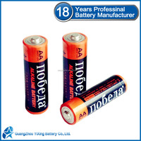 1.5v alkaline battery LR6 zn/mno2 battery