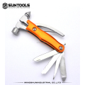 Aluminum multi-color handle gift hand tools folding hammer