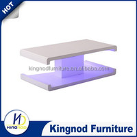 Modern MDF high gloss Coffee Tables Furniture,/cheap wood Coffee table with led light/Modern White Coffee Table