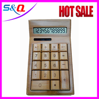 desktop wooden calculator solar cell FOB price for sale silicone calculator