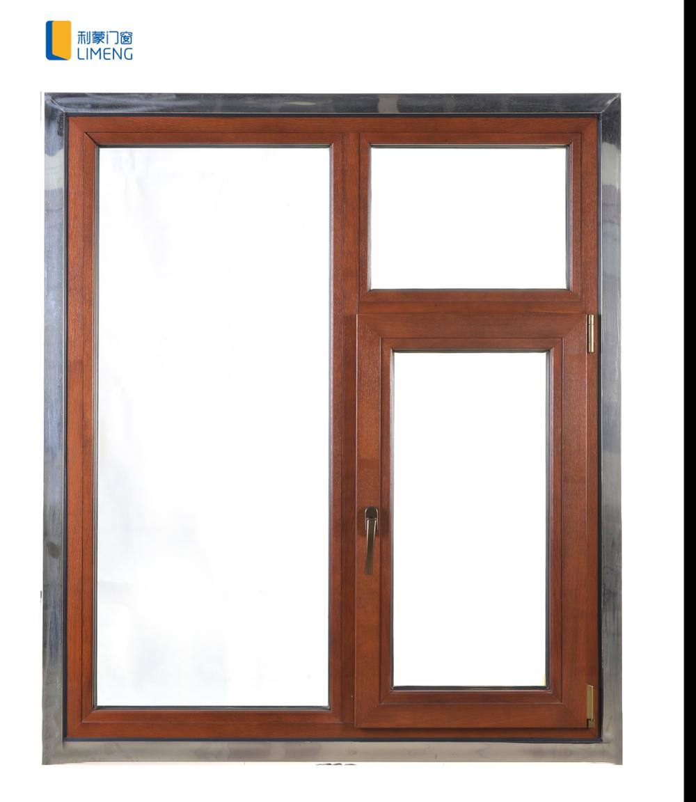 wood grain <strong>aluminum</strong> composite wood tilt & turn windows