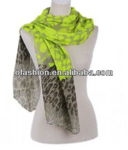 2013 Neon Leopard Printed Scarf Neon Color Scarf Stock Voile Scarf 5Colors