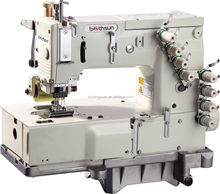 KANSAI MODEL BS-1404P 4 NEEDLE DOUBLE CHAIN STITCH SEWING MACHINERY, FLAT BED MULTI NEEDLE INDUSTRIAL SEWING MACHINE PRICE