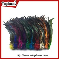 Wholesale colourful long saddle hackle grizzly rooster feathers for sale