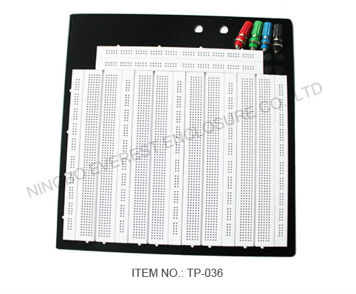 Breadboard Solderless 22.2x20.2x0.85cm Term Red Blue Green Black Electronic Design