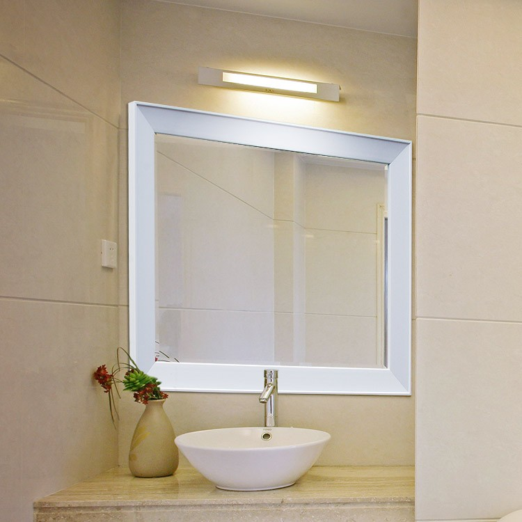 Bathroom mirror glass replacement