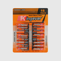 Hot sale r6 size 1.5 volt industrial aa batteries with different jacket