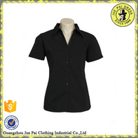 wholesale new formal black short blouse women shirt model