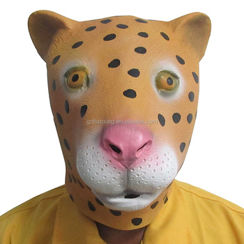 Alibaba Manufacture Party Animal Mask Natural Latex Halloween Leopard Mask