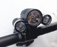 Factory sale Hot sale 3 Head Bike light T6+2XPE/LED lights for bike/Bicycle light review