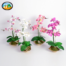 Home table weddings decor beauty silk flowers artificial butterfly orchid bonsai wholesale