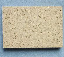 Wholesale price supply engineered gold sparkle beige venus quartz countertop