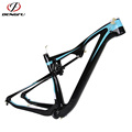 New Full Carbon blue white color glossy bicicleta mountain bike 29 mtb BB92 Thru Axle