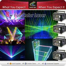 Amazing8w RGB full color Multi-color Disco Laser Beam ,Club,DJ laser light