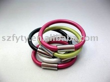2012 Wholesale silicone wristband with metal clip