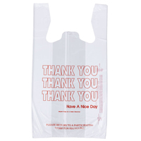 Cheap custom printed t-shirt plastic bag