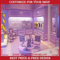 Retail garment shop baby clothes store 3d max interior design