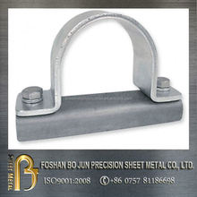 Custom made U shaped bracket parts, steel parts sheet metal fabrication made in china