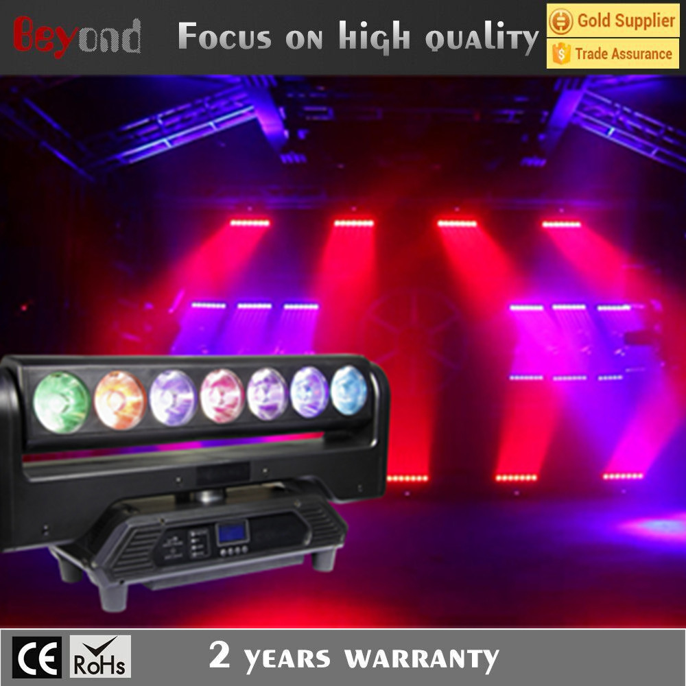 Profassional design led 7* 4IN1 stage Continue Rotation Pixel Bar moving head light with 39 Channel