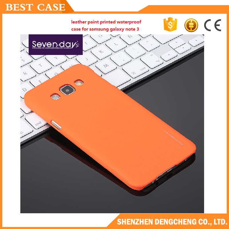 leather paint printed waterproof case for samsung galaxy note 3