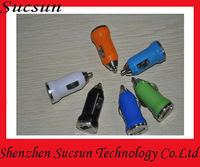 For iphone colorful car charger USB